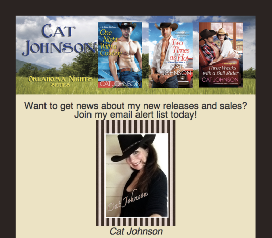 Cat Johnson Mail List Sign up
