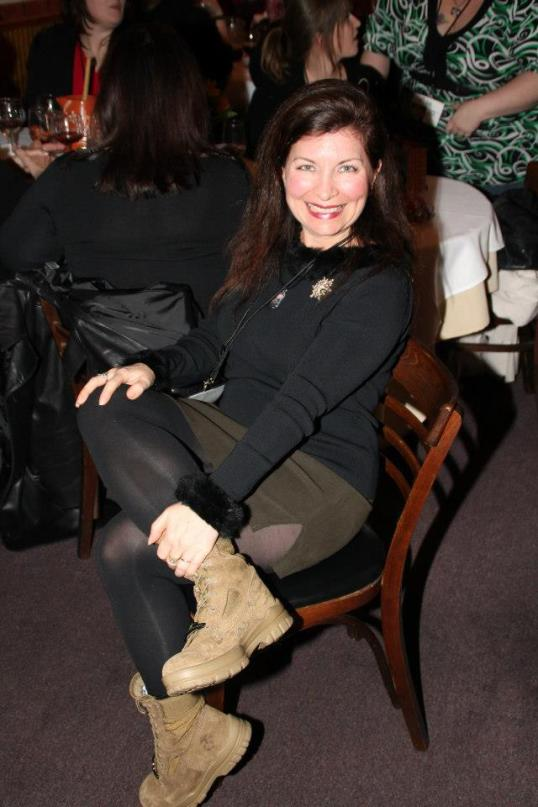I debuted my boots at the Book Obsessed Chicks Book Club Christmas Party Dec 2012