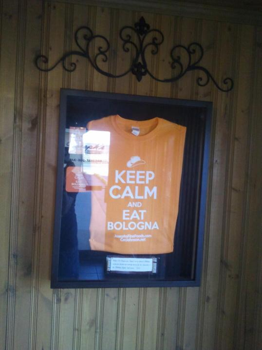keep calm and Eat Bologna shrine in Drumright, OK