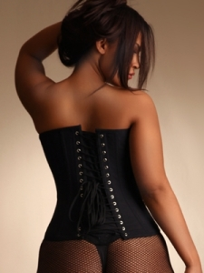 Corset with Privacy Panel