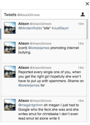 Alison Gilmore plagiarized Lorelei James then denied it