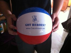 Got Heroes Cat Johnson Beach Ball