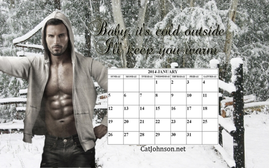 January Calendar Hot Guy Desktop Wallpaper