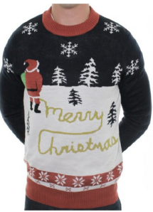 Naughty Santa Peeing Sweater