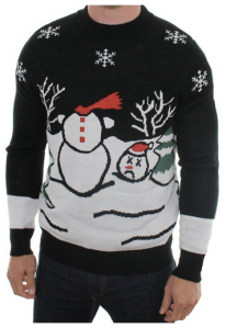 Headless Snowman Ugly Sweater