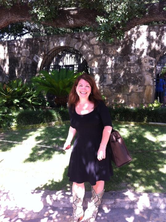 Cat Johnson at the Alamo San Antonio TX
